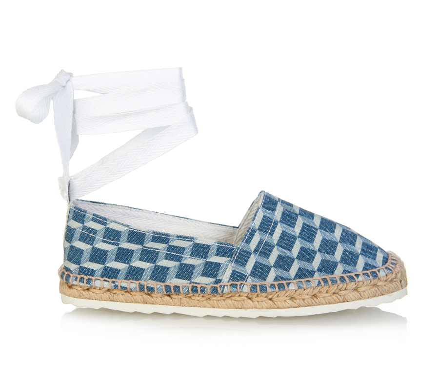The espadrilles have wraparound ankle straps (US$365).