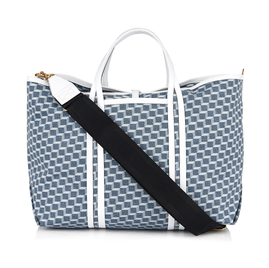 Leather top handles and a removable shoulder strap make this tote versatile and handy (US$866).