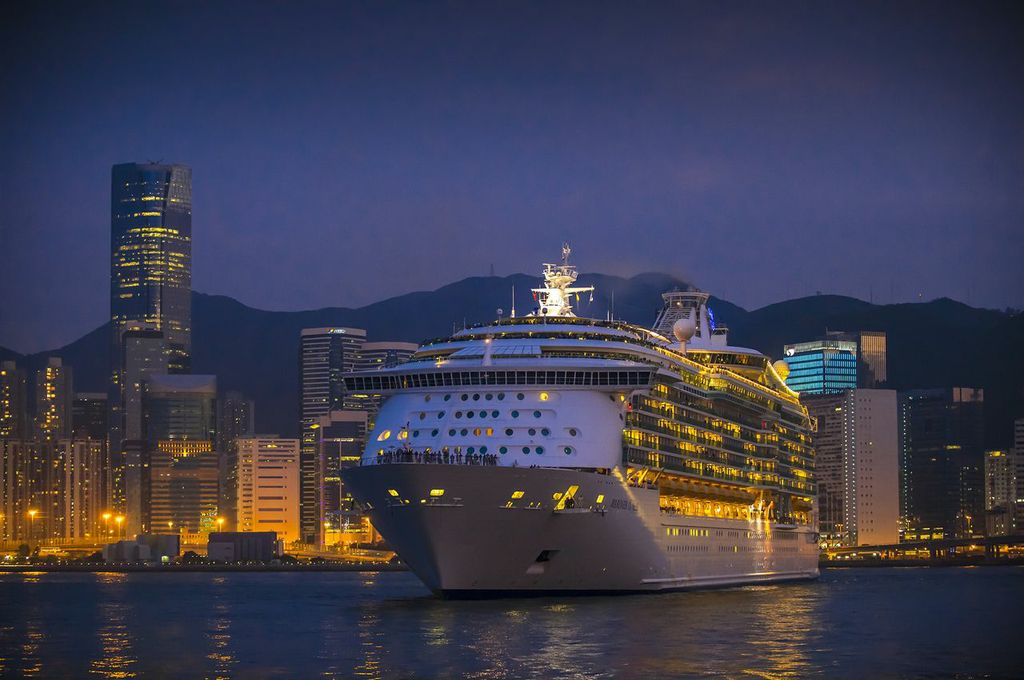 A ship enters the Kai Tak Cruise Terminal. Source: Hong Kong Tourism Board