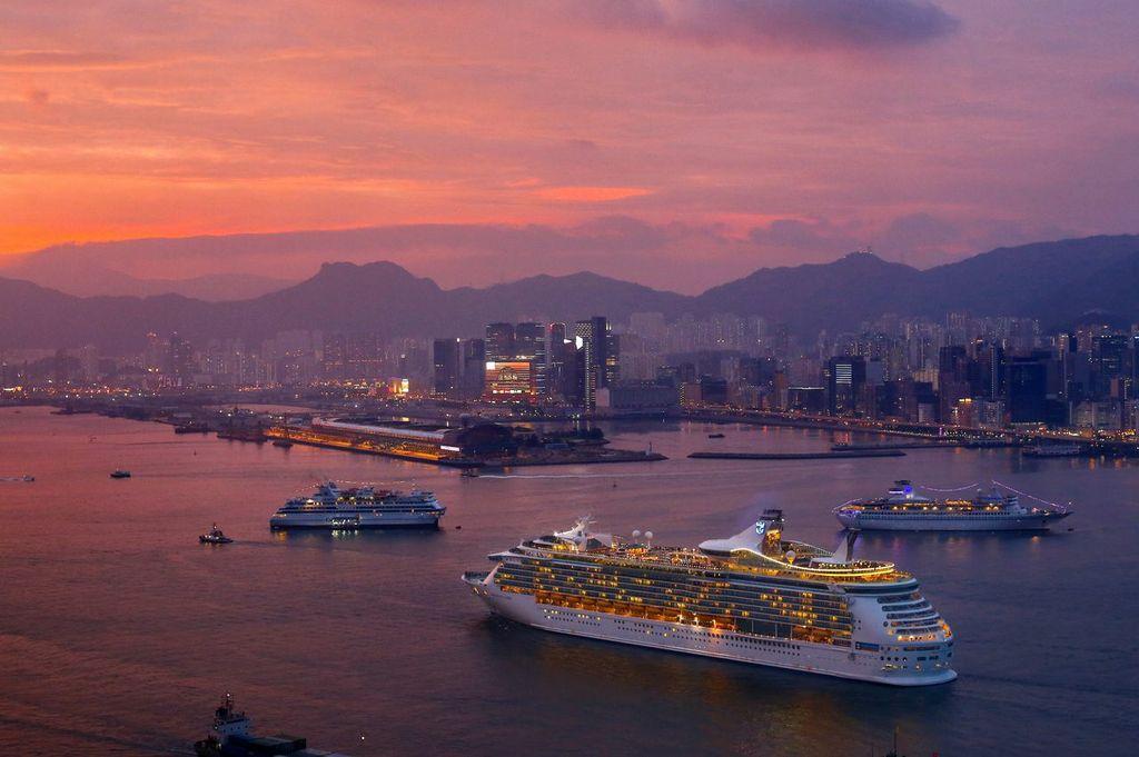 An aerial view of Kai Tak Cruise Terminal. Source: Hong Kong Tourism Board