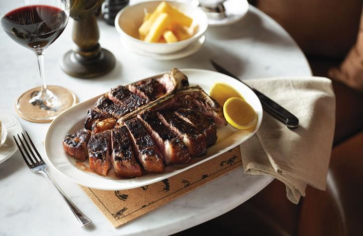 A T-bone steak at Plantation Grill.
