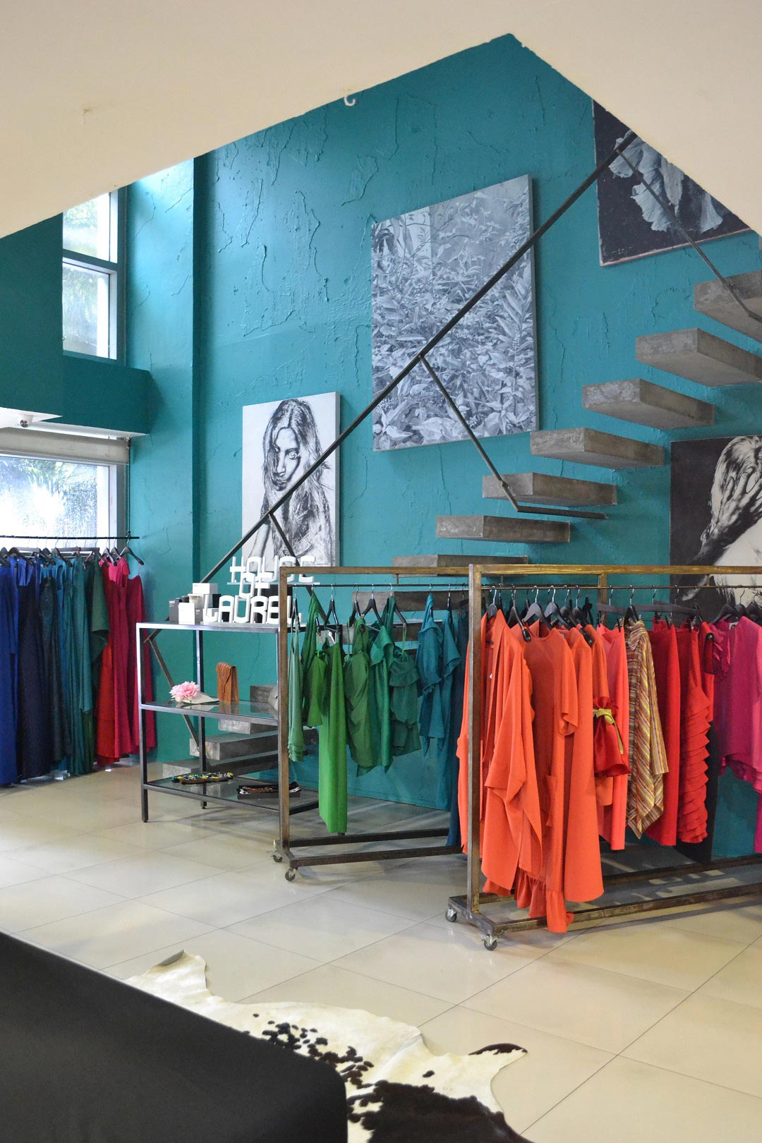Vibrant colors and contemporary Filipino fashion greet customers at House of Laurel.