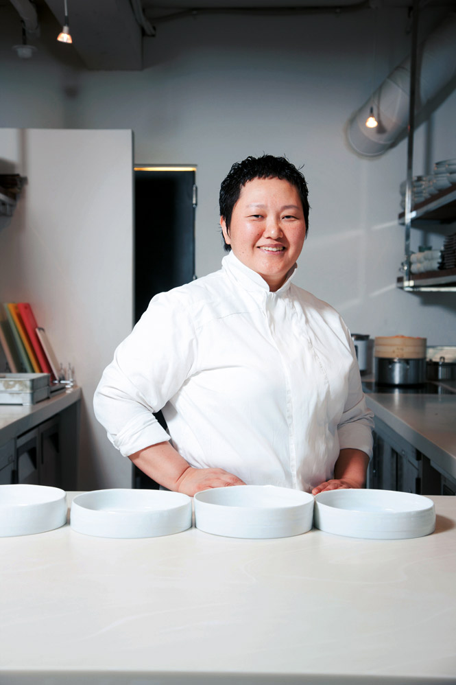 Chef Roh Young-hee at Poom.