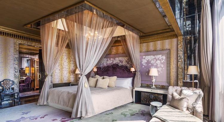 The Presidential Suite bedroom at The St. Regis Singapore.