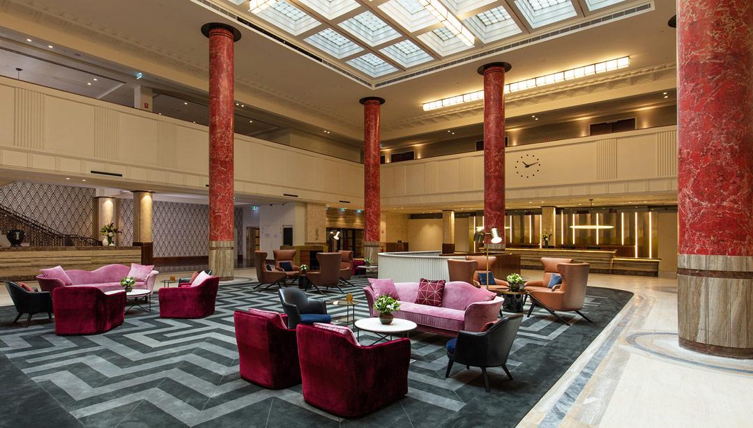The lobby at Primus Hotel Sydney.