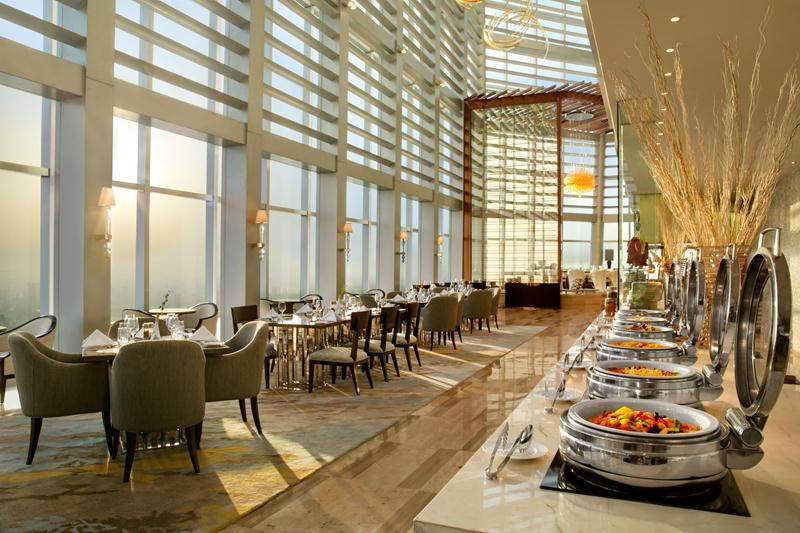 Elements All-Day Dining Restaurant is located on the 60th floor.