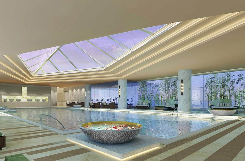 The hotel has a heated indoor pool in its wellness center.