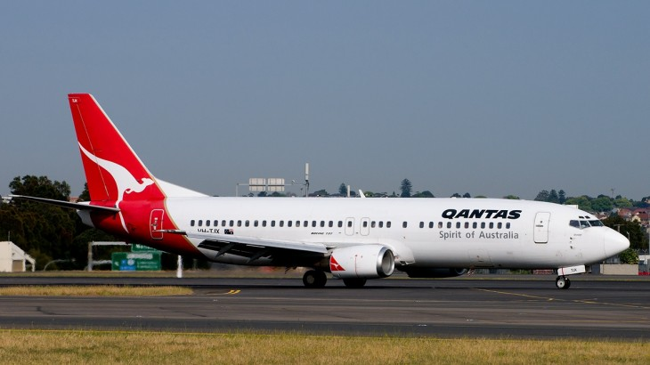 Qantas's Boeing 737 aircraft.