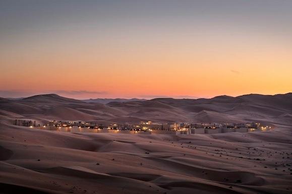 Qasr Al Sarab Desert Resort by Anantara surrounded by the Arabian desert.