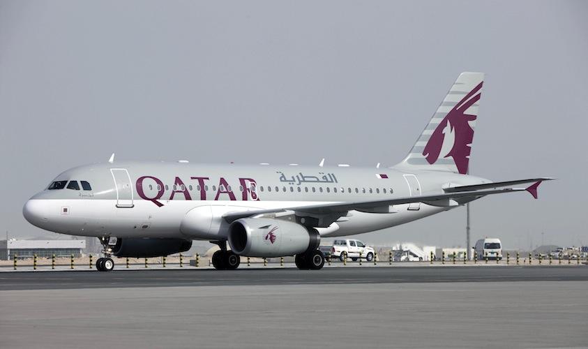 Qatar's A319 aircraft.