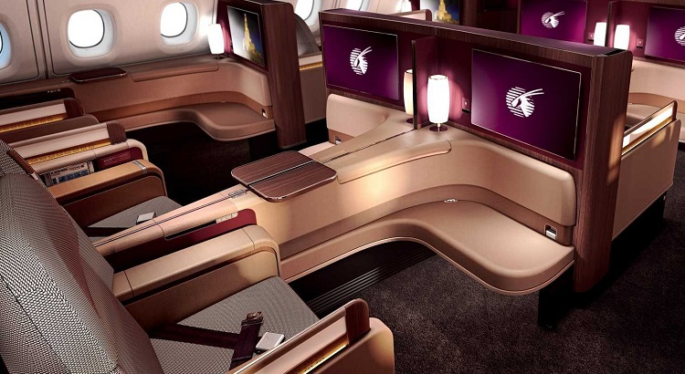 There are eight first class seats on Qatar Airways' A380 aircraft.