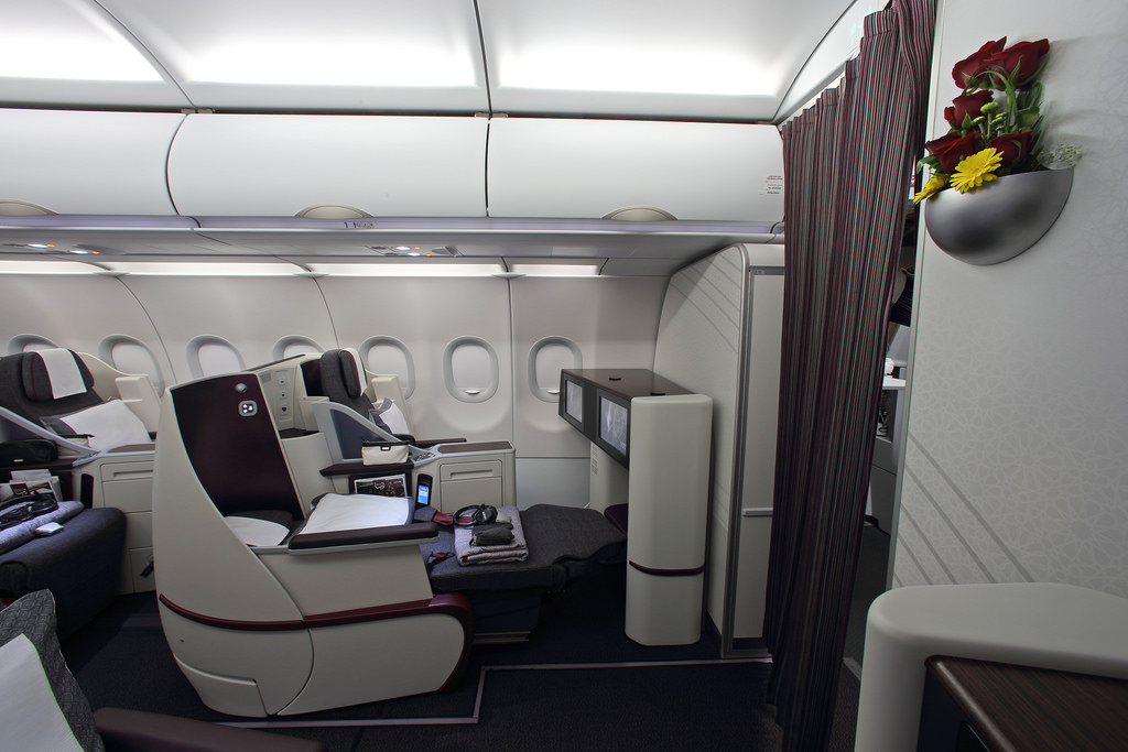 The new A320 Business Class cabin.