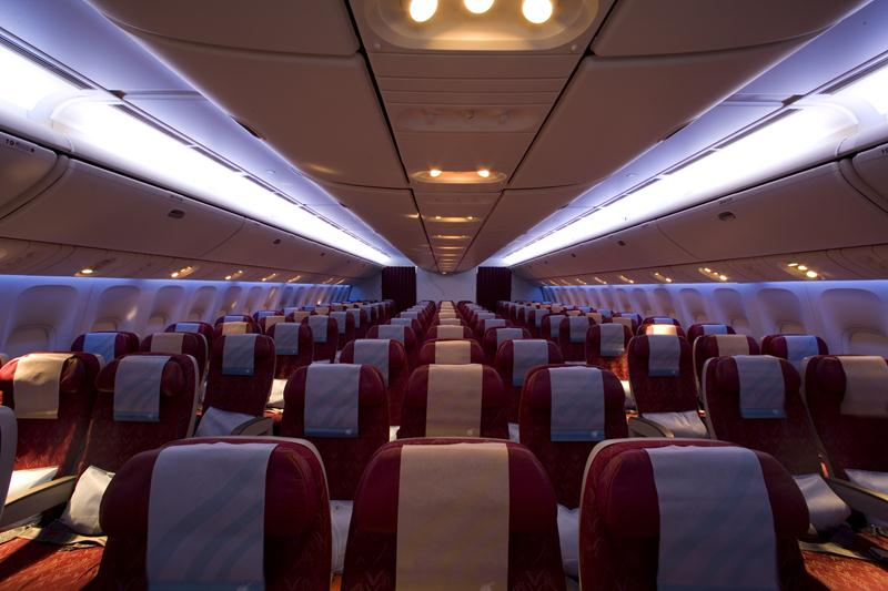 Qatar uses an Airbus 330 with 236 economy-class seats for the route.