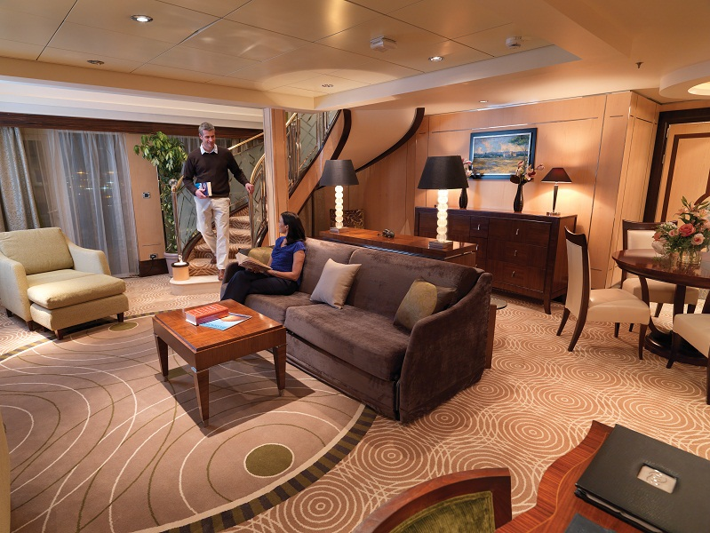 A luxurious room aboard the ocean liner.