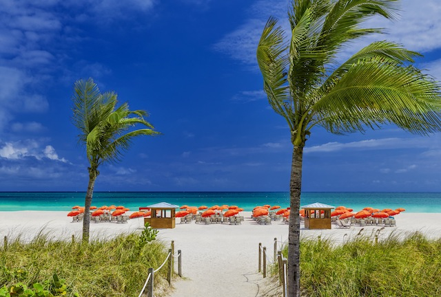 Beach-front access at the Royal Palm South Beach Miami.