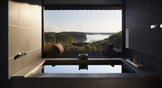 A private onsen in one of Amanemu's suites.