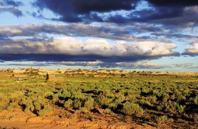 Rain clouds over Mungo National Park.