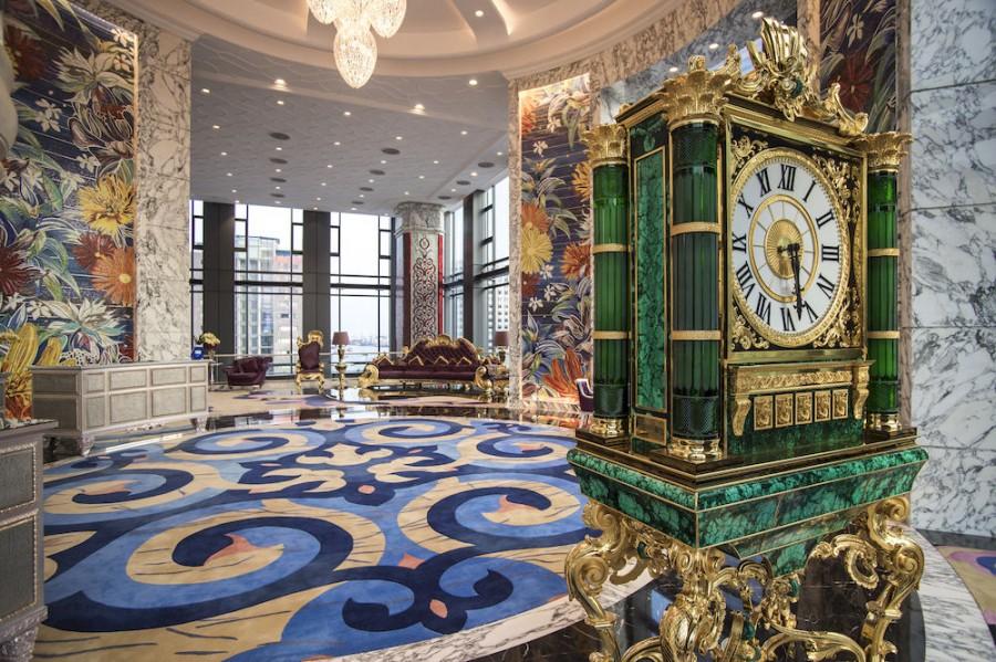 A view of the Reverie Saigon's lobby.