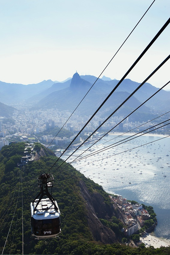 The cable car up to Rio's iconic Sugarloaf Mountain.