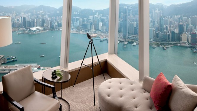 Ritz Carlton Hotel Hong Kong room-with-view