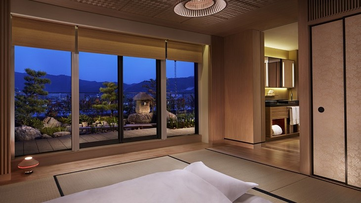 Tatami mats at one of the suites at The Ritz-Carlton, Kyoto, which opened last year.