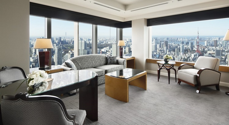 A view of Tokyo from The Ritz-Carlton, Tokyo's Millenia Suite.