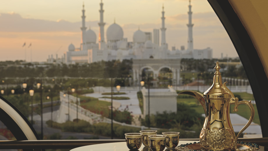 Views of  Abu Dhabi's Sheikh Zayed Grand Mosque.