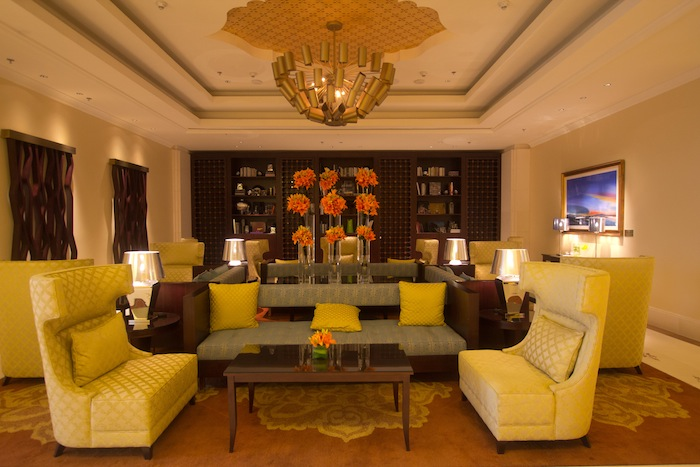 The hotel's lounge.