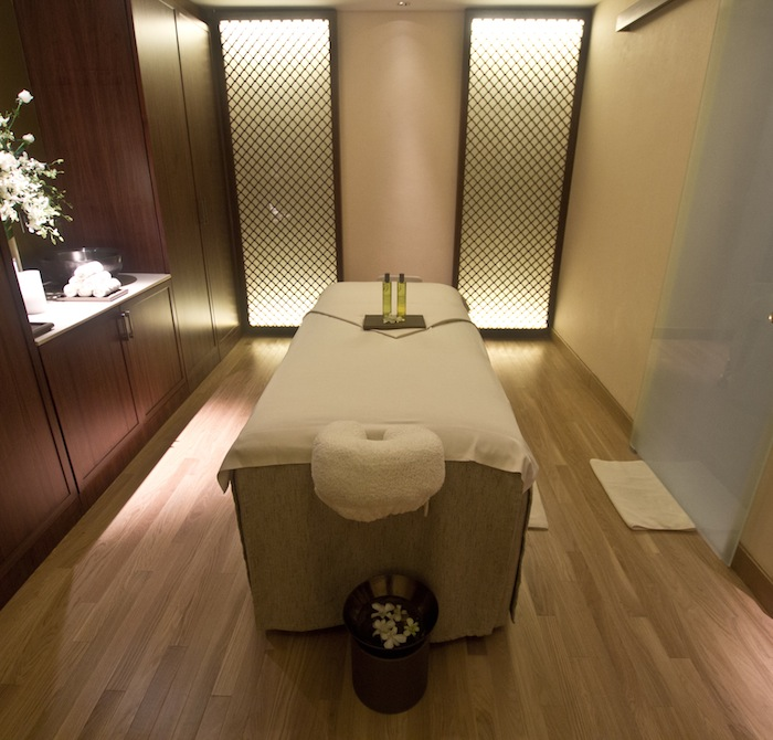 A treatment room at The Ritz-Carlton Spa by ESPA.