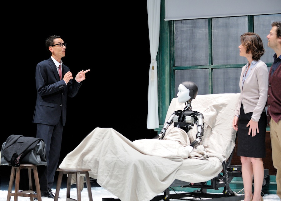 A scene from 'The Metamorphosis, Android Version,' directed by one of Japan's most renowned theater figures Oriza Hirata.