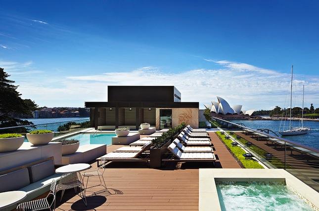 Park Hyatt Sydney's rooftop pool deck.