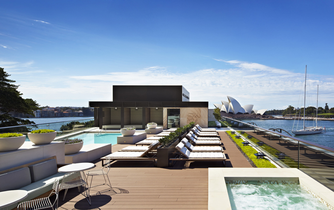 Park Hyatt Sydney's rooftop pool area