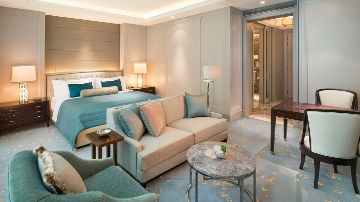 The largest room at the St. Regis takes up a sizable 353 square meters.