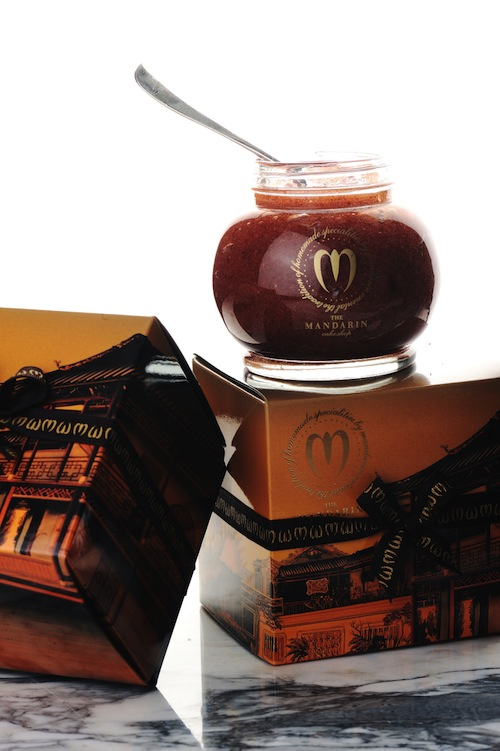 The Mandarin Cake Shop's rose petal jam is for sale in the pop-up store.