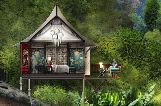 A tent villa