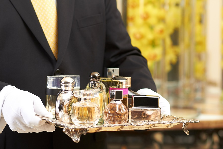 Fragrance Butlers are available 24-hours, gratis.