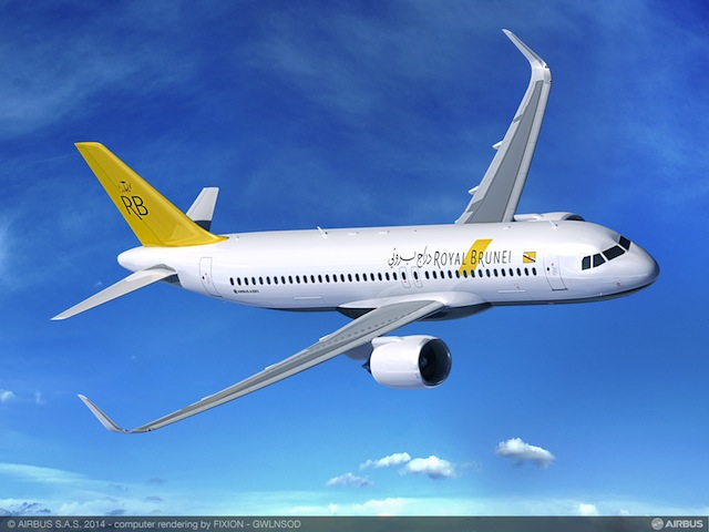 Royal Brunei's new A320NEOs will service additional flights to Singapore.