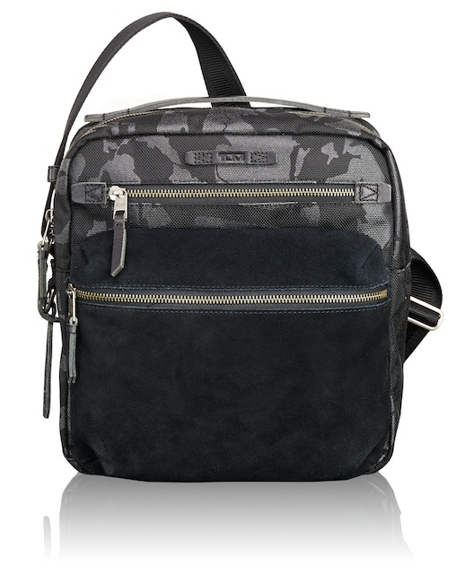 The Amhurst Crossbody features internal mobile and tablet pockets.