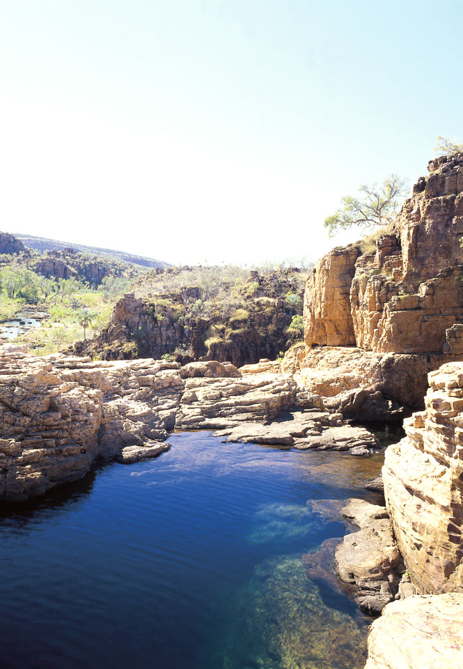 A swimming hole on Bullo River Station, the Cascades offers cool respite from the heat of the outback.