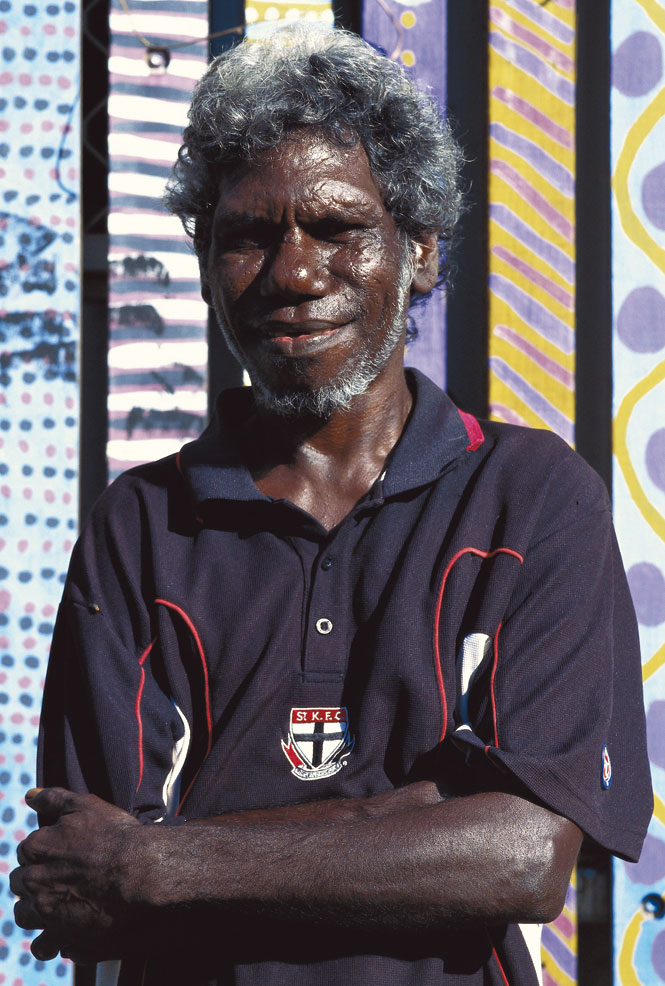Regis Pangiraminni, a guide and potter on Melville Island.