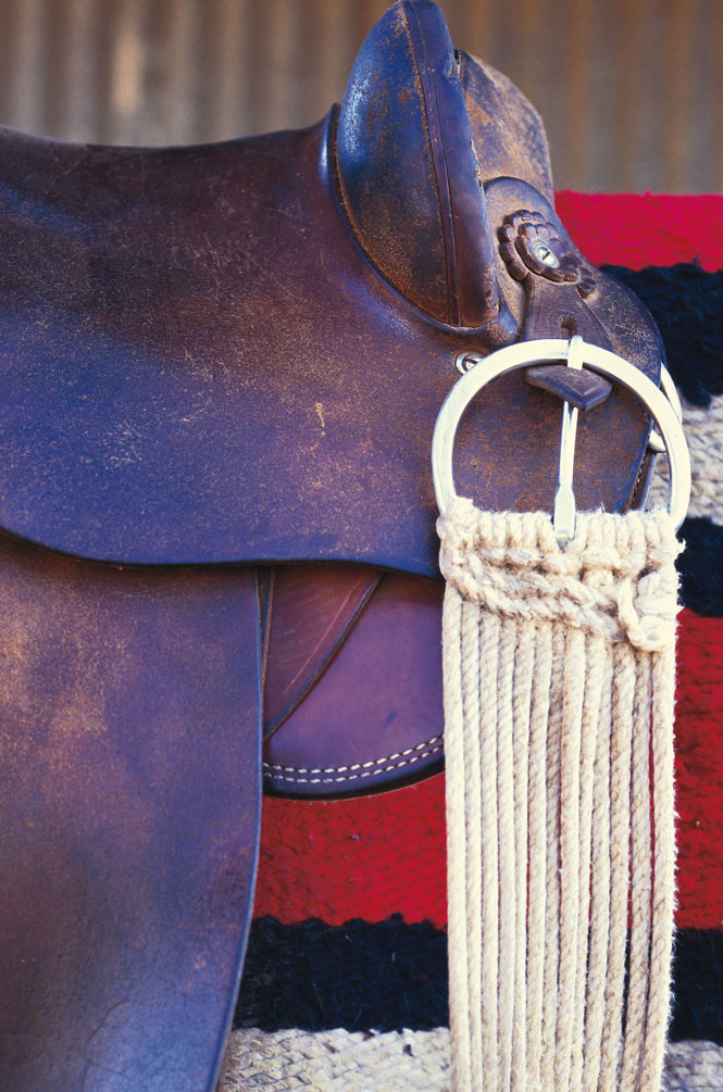A ranch hand's saddle.