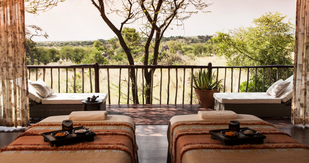The Spa here offers Serengeti-inspired skincare and massage treatments.