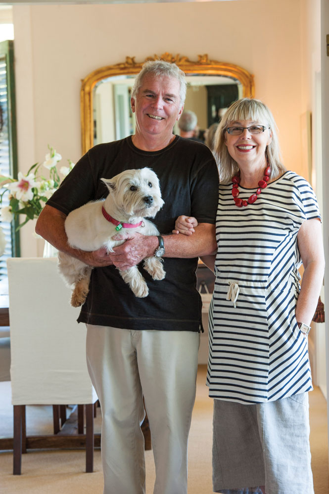 Owners bruce and Carol Hyland at maison de la mer.