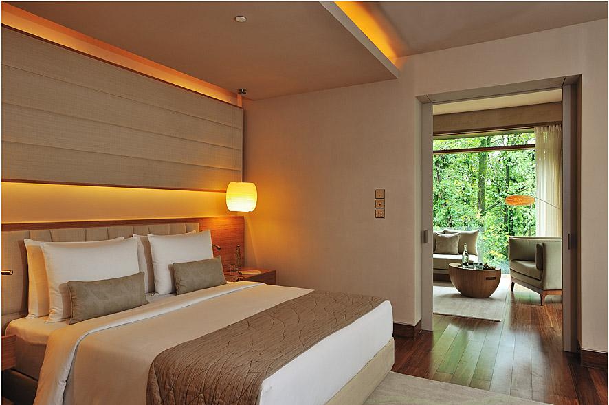 Spanish design firm Esteva i Esteva created the earth-toned color scheme for the resort.