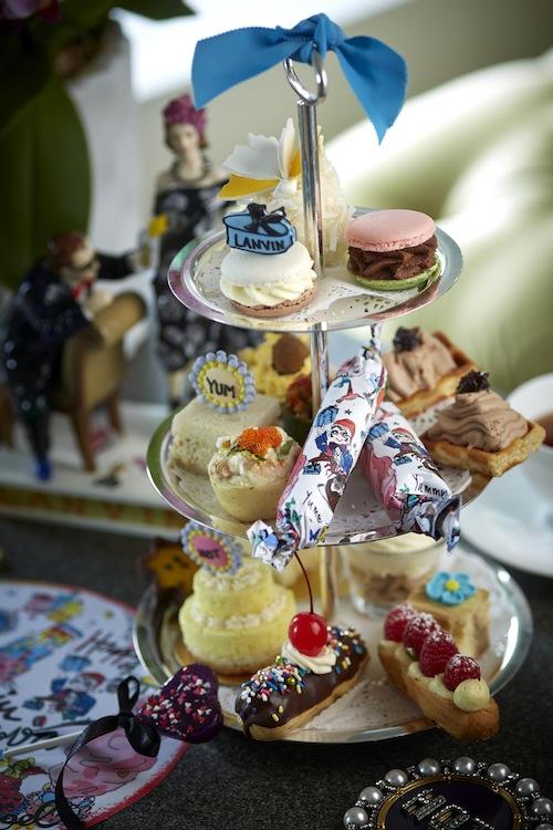 Treats include Coconut Chiffon Sponge, French Vanilla Crème to Raspberry, Rose Petal Jam & Crème Anglaise Éclair.