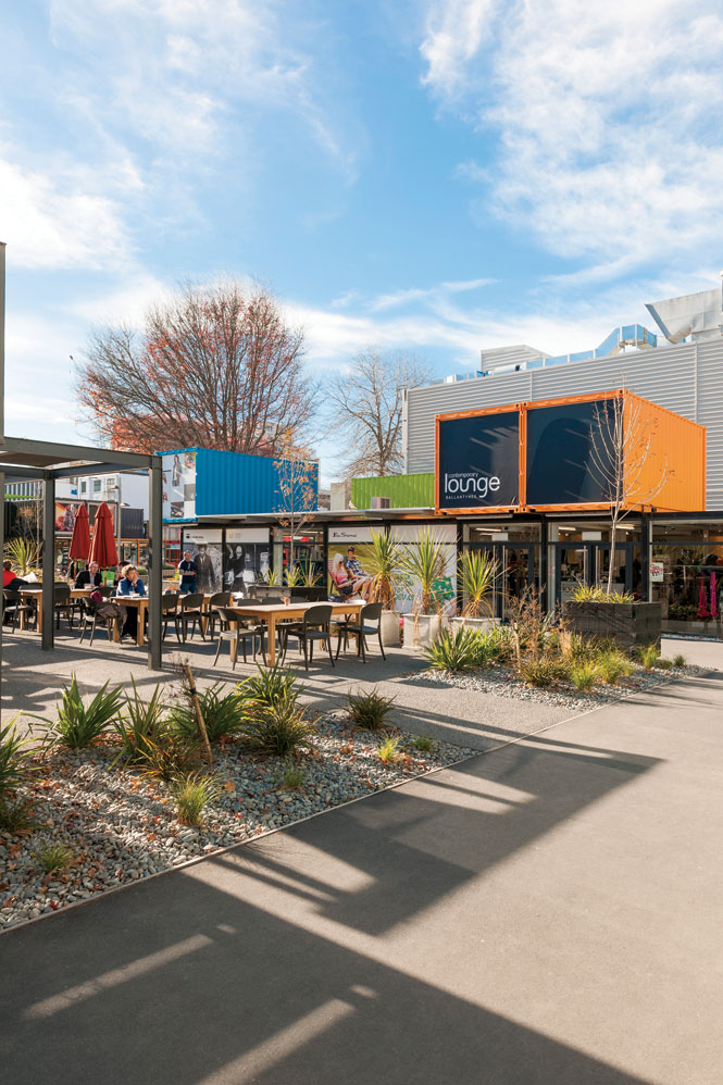 Restart, a pop-up mall made of shipping containers, has brought business back to downtown Christchurch.