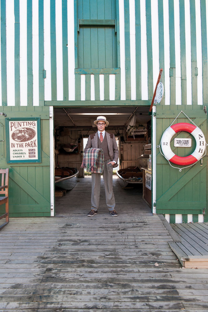 A punter at Christchurch's Antigua Boat Sheds.