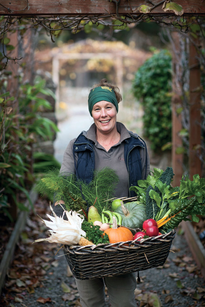 Fresh produce from the potager-style kitchen garden at Otahuna Lodge.