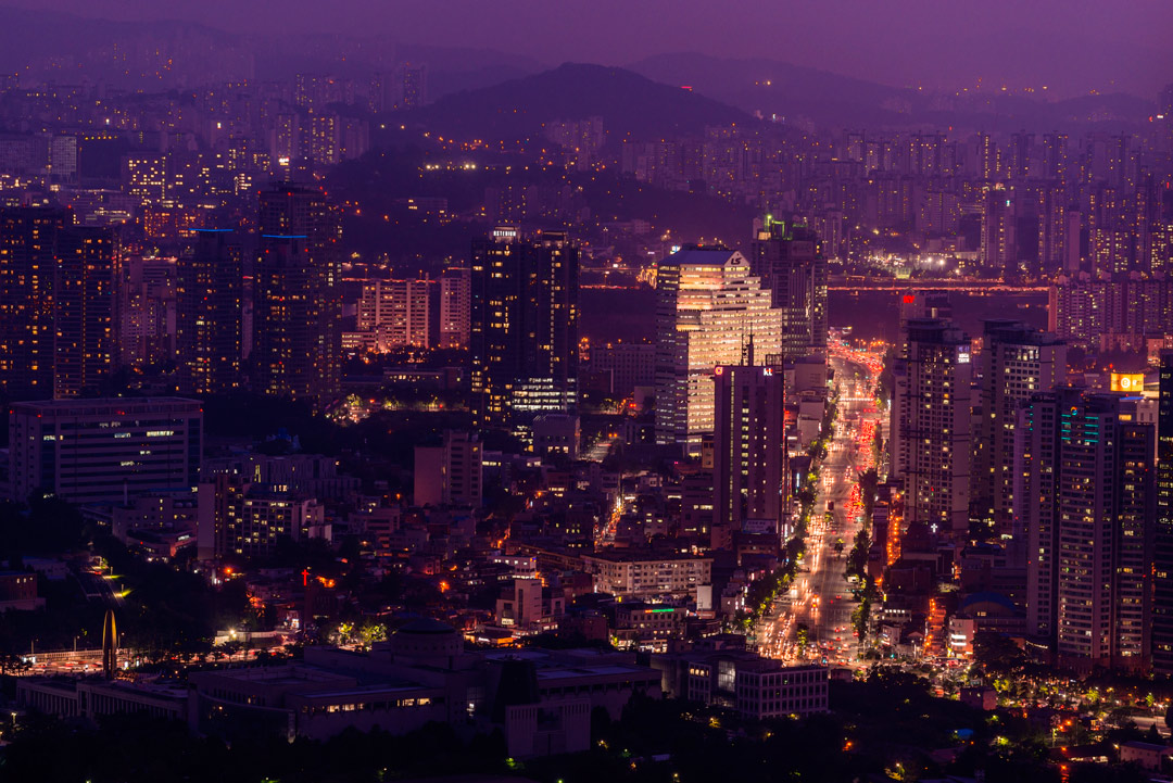 City views as seen from Four Seasons Hotel Seoul.