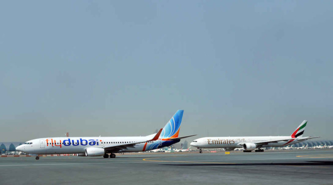 Emirates and flydubai enter into a partnership to deal with slowing customer demand. Both photos are courtesy of Emirates.